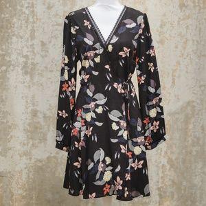 Astr The Label Floral Print Wrap Dress
